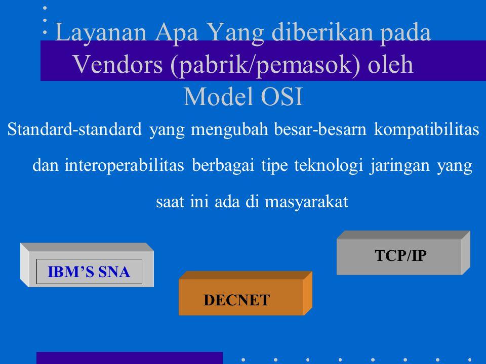 Layanan Apa Yang diberikan pada Vendors (pabrik/pemasok) oleh Model OSI Standard-standard yang mengubah besar-besarn kompatibilitas dan interoperabili