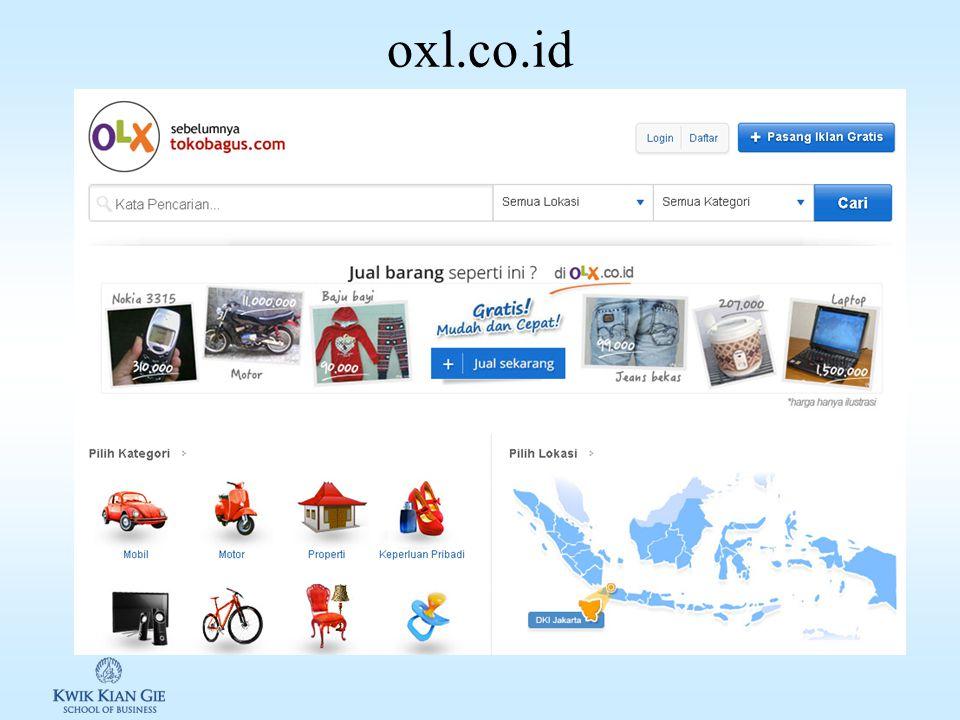 C2C C2C: bentuk usaha lelang melalui internet. Contohnya e-bay, oxl.co.id