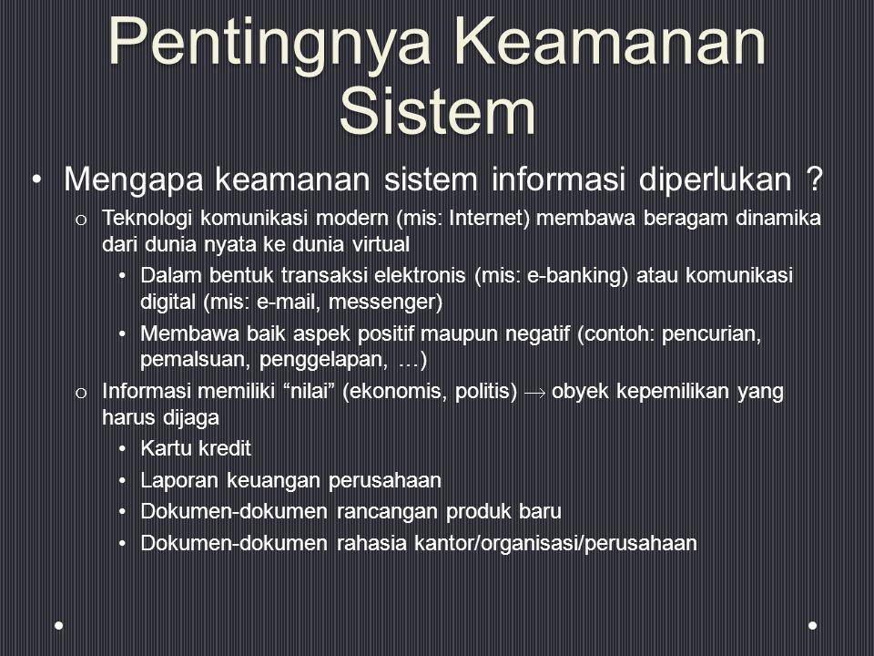 Pentingnya Keamanan Sistem Mengapa keamanan sistem informasi diperlukan .