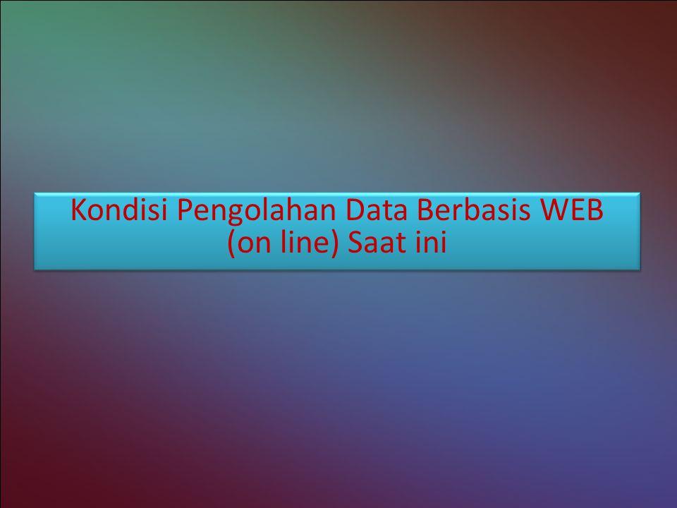 Kondisi Pengolahan Data Berbasis WEB (on line) Saat ini Kondisi Pengolahan Data Berbasis WEB (on line) Saat ini