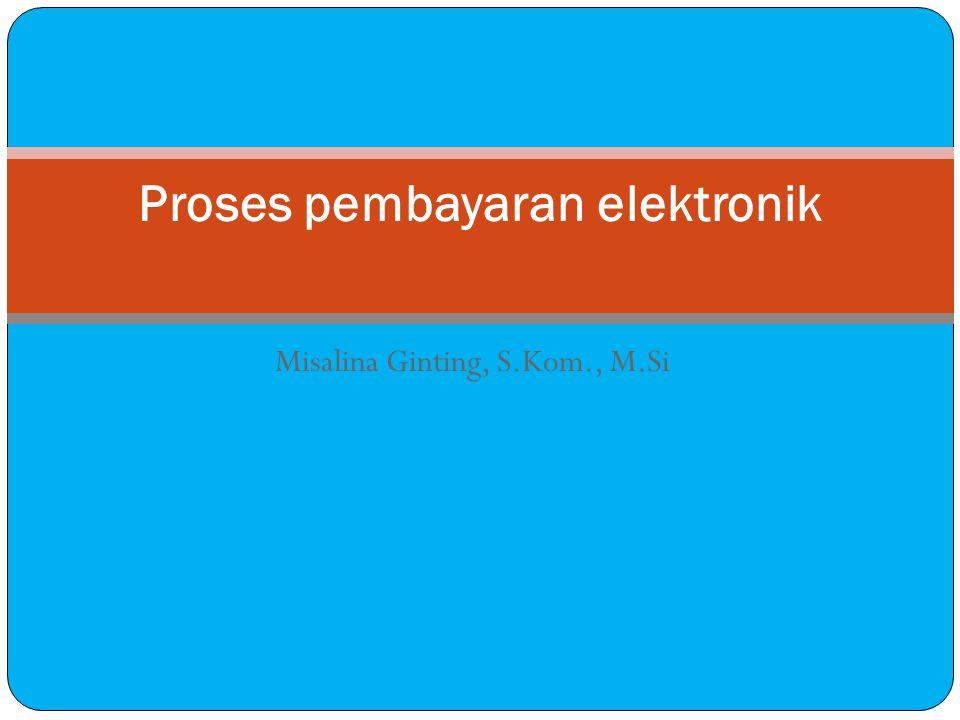 Misalina Ginting, S.Kom., M.Si Proses pembayaran elektronik