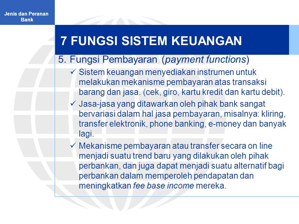 Menuju Otoritas Jasa Keuangan Jenis dan Peranan Bank