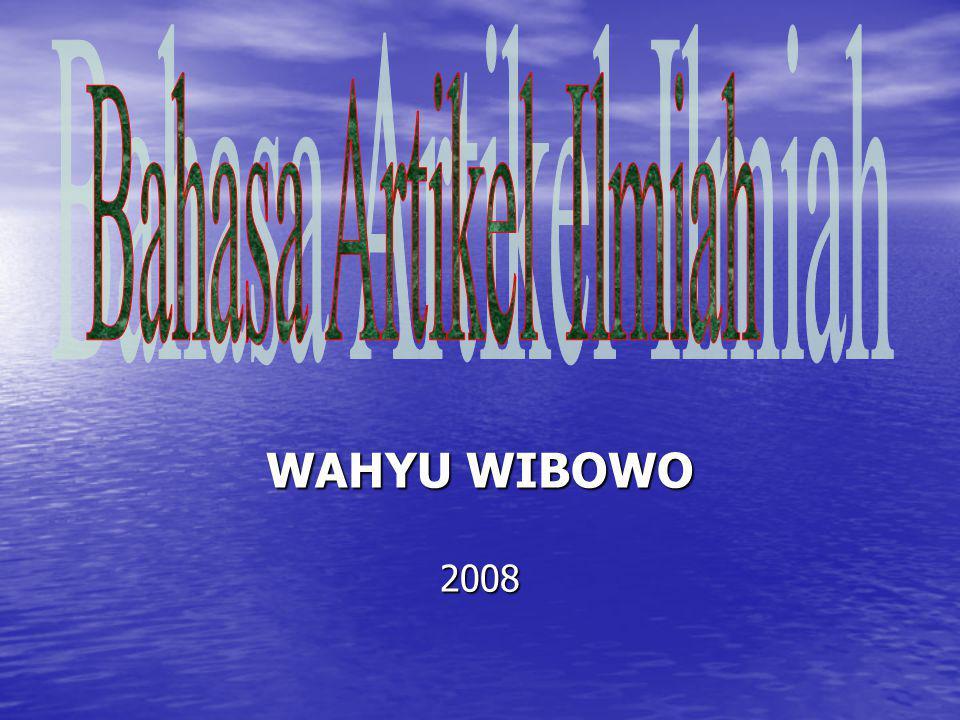 WAHYU WIBOWO 2008