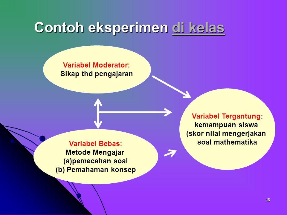17 Pola eksperimental yang sering digunakan Simple randomaized design Simple randomaized design Treatments by levels design Treatments by levels desig