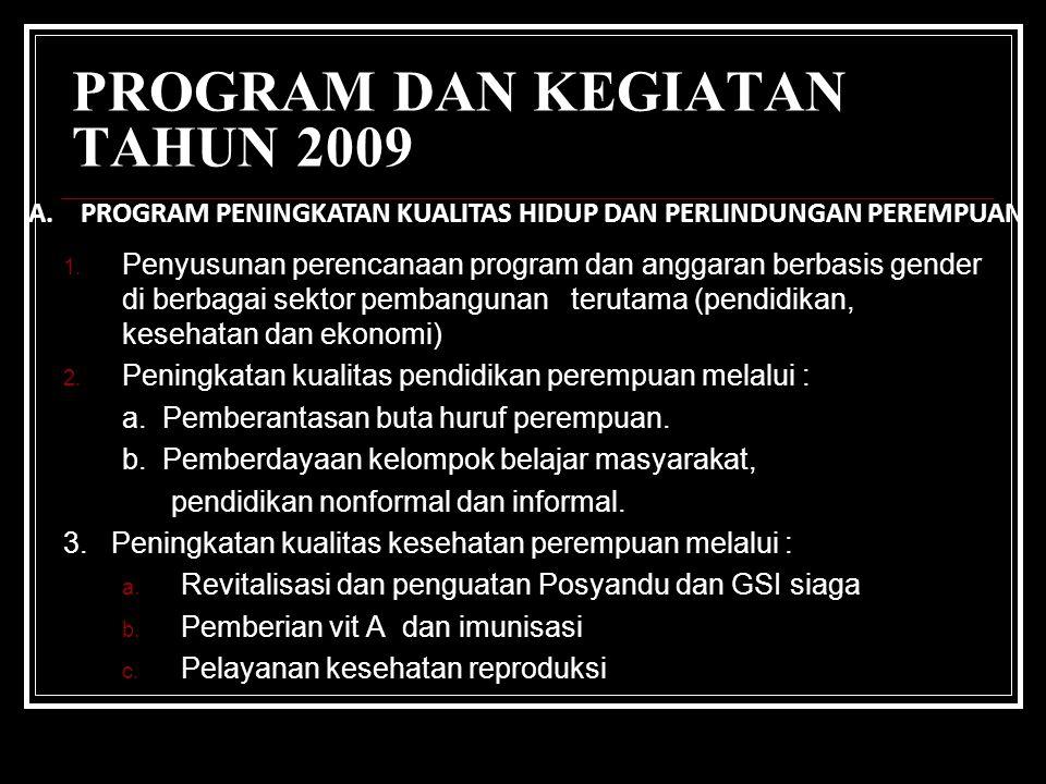 RPJP 2005-2025 AKSELERASI PEMBERDAYAAN PEREMPUAN DALAM PEMBANGUNAN KOTA BANDUNG TAHUN 200 9 RPJP 2005-2025 KOTA BDG PROGRAM PRIORITAS PROGRAM PP MDG's