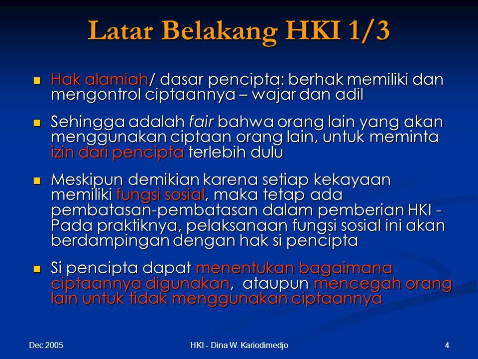 Dec 2005 45HKI - Dina W.Kariodimedjo Dasar: Dasar: UU No.
