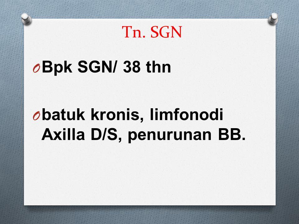 Tn. SGN O Bpk SGN/ 38 thn O batuk kronis, limfonodi Axilla D/S, penurunan BB.