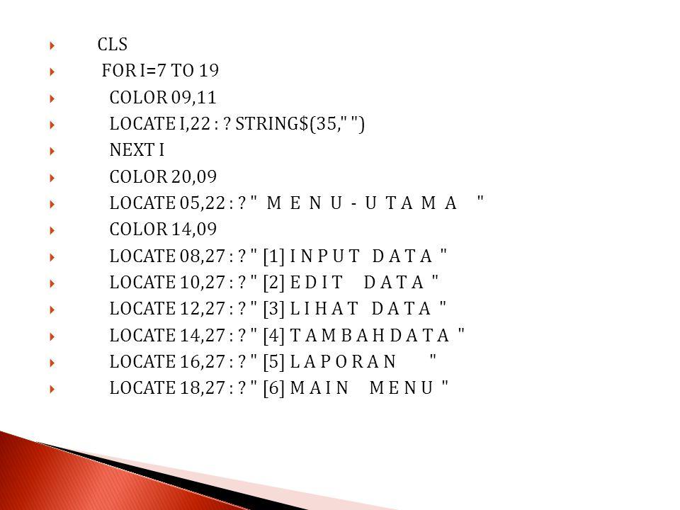  color 07,11  LOCATE 08,52 : .CHR$(220)  LOCATE 09,28 : .
