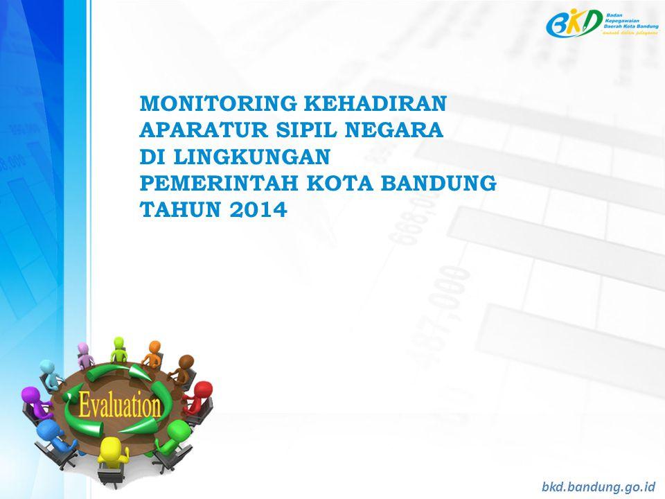 MONITORING KEHADIRAN APARATUR SIPIL NEGARA DI LINGKUNGAN PEMERINTAH KOTA BANDUNG TAHUN 2014 bkd.bandung.go.id