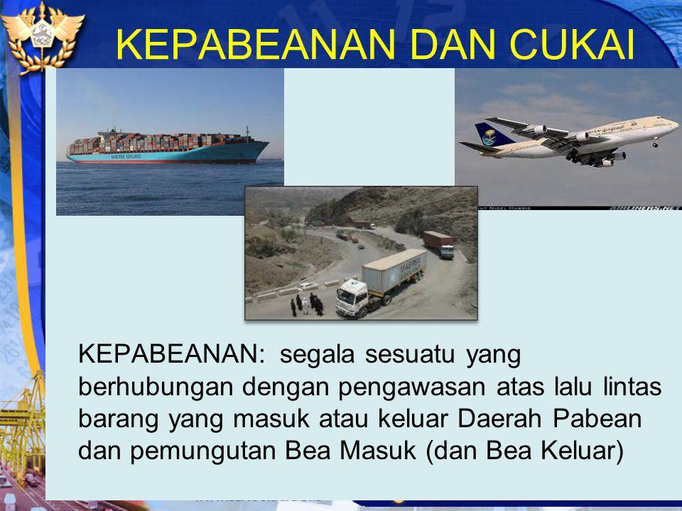 Istilah-Istilah Dalam Tatalaksana Impor Daerah Pabean adalah wilayah Republik Indonesia yang meliputi wilayah darat, perairan dan ruang udara di atasnya, serta tempat-tempat tertentu di Zona Ekonomi Eksklusif dan landas kontinen yang di dalamnya berlaku undang-undang Kepabeanan.