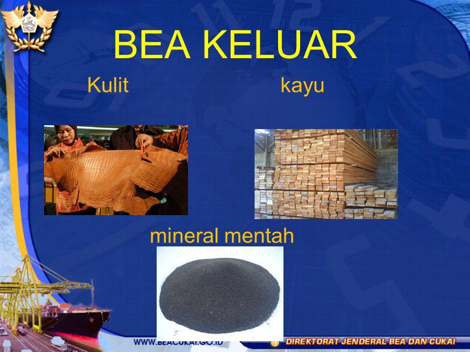 Kulit kayu mineral mentah BEA KELUAR