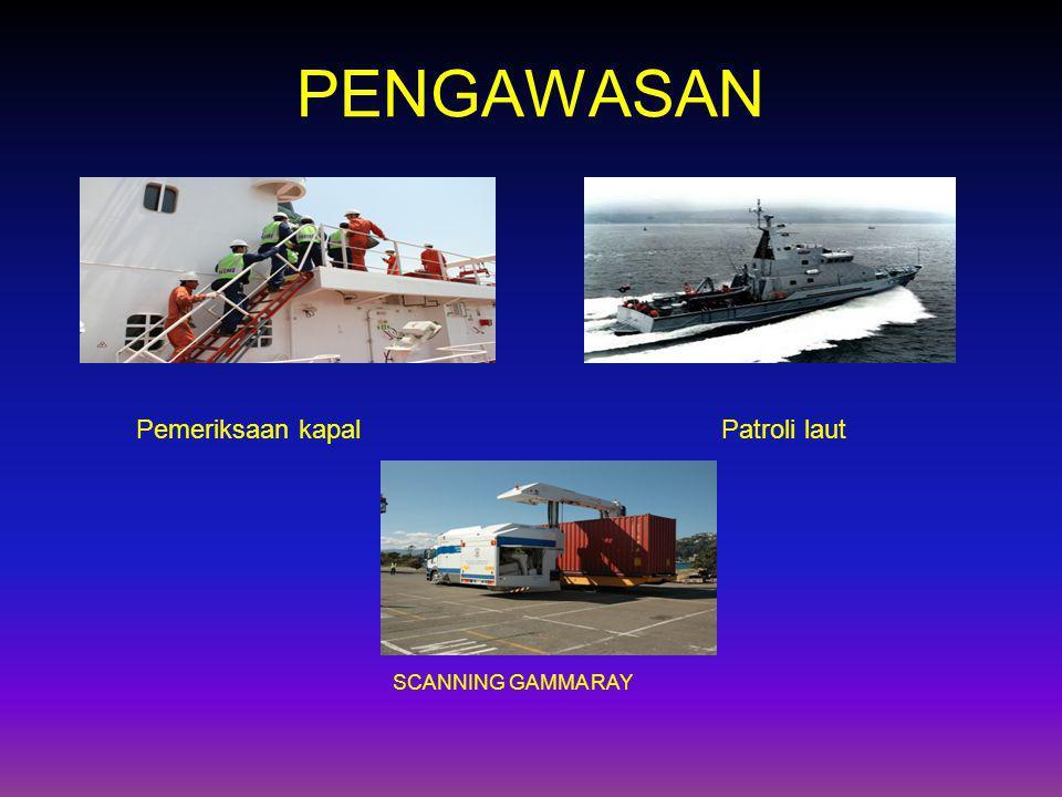 PENGAWASAN Pemeriksaan kapalPatroli laut SCANNING GAMMA RAY