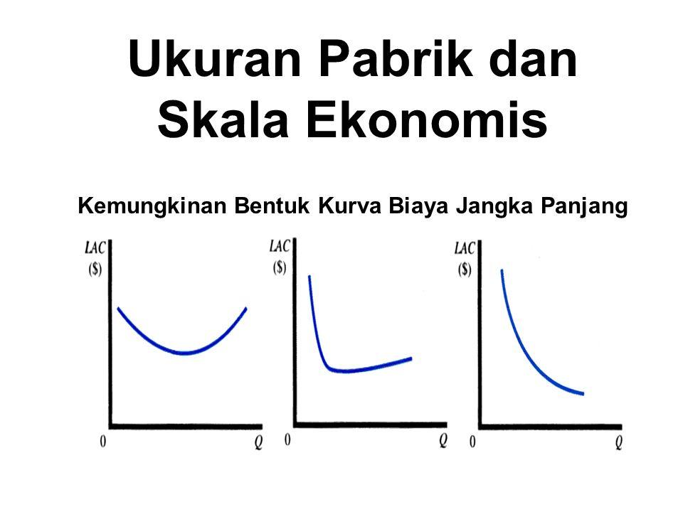 Kemungkinan Bentuk Kurva Biaya Jangka Panjang Ukuran Pabrik dan Skala Ekonomis