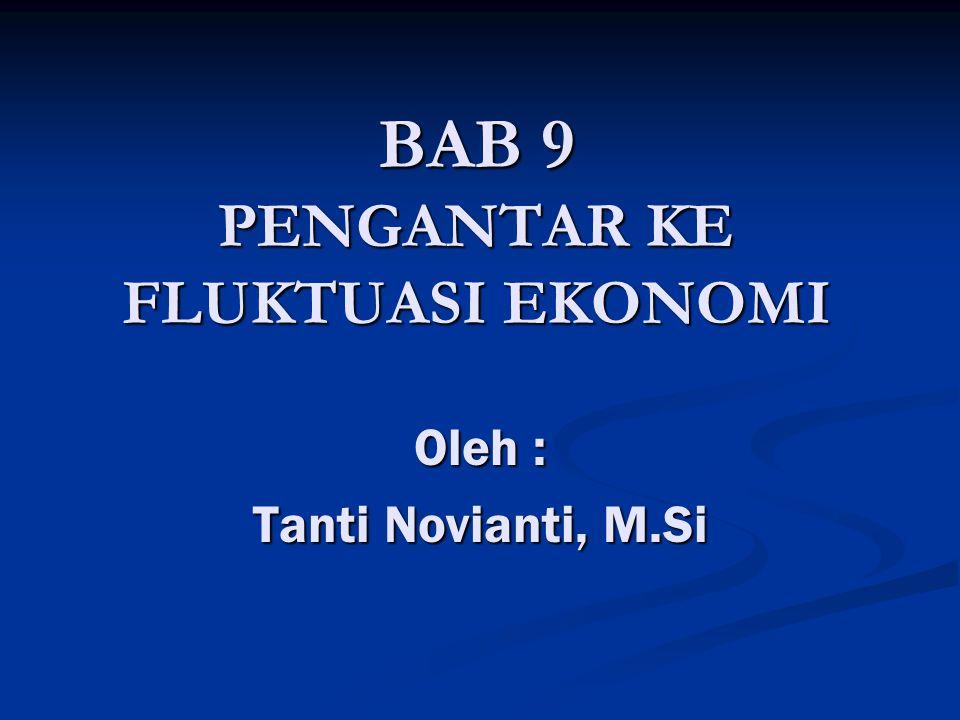 BAB 9 PENGANTAR KE FLUKTUASI EKONOMI Oleh : Tanti Novianti, M.Si