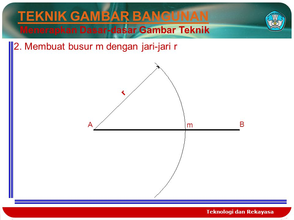 Teknologi dan Rekayasa TEKNIK GAMBAR BANGUNAN Menerapkan Dasar-dasar Gambar Teknik 3.