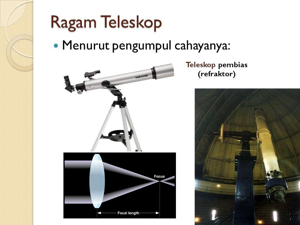 10 Ragam Teleskop Menurut pengumpul cahayanya: 10 Teleskop pembias (refraktor)