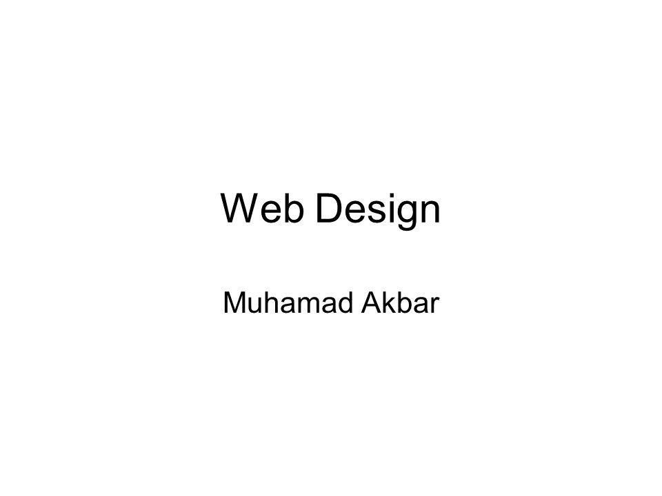Web Design Muhamad Akbar