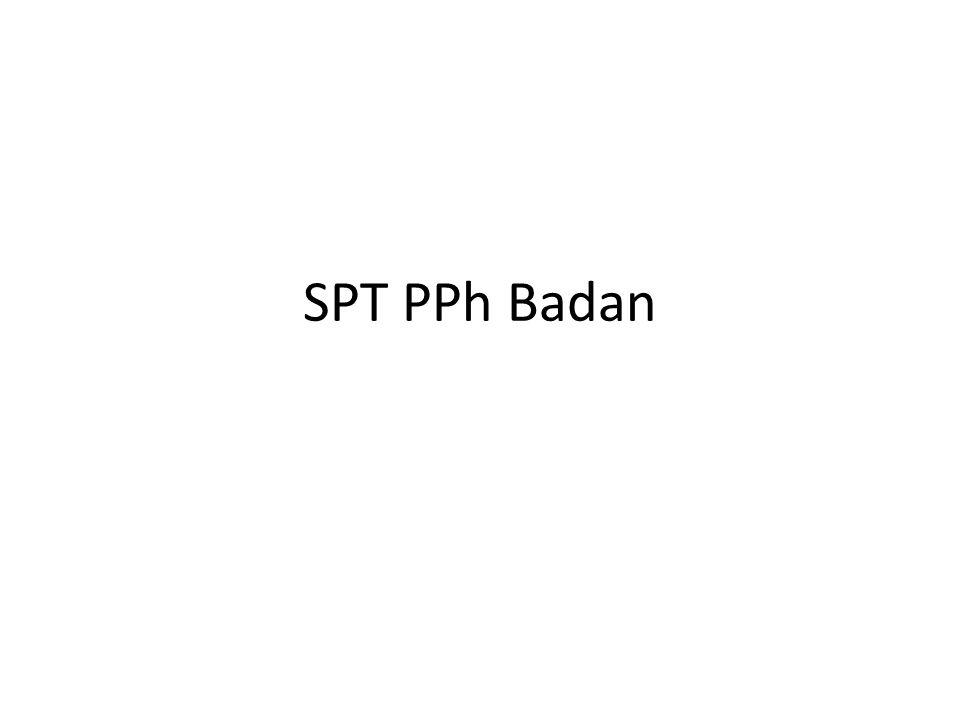 SPT Tahunan PPh Badan Induk Nomor 1 E-G