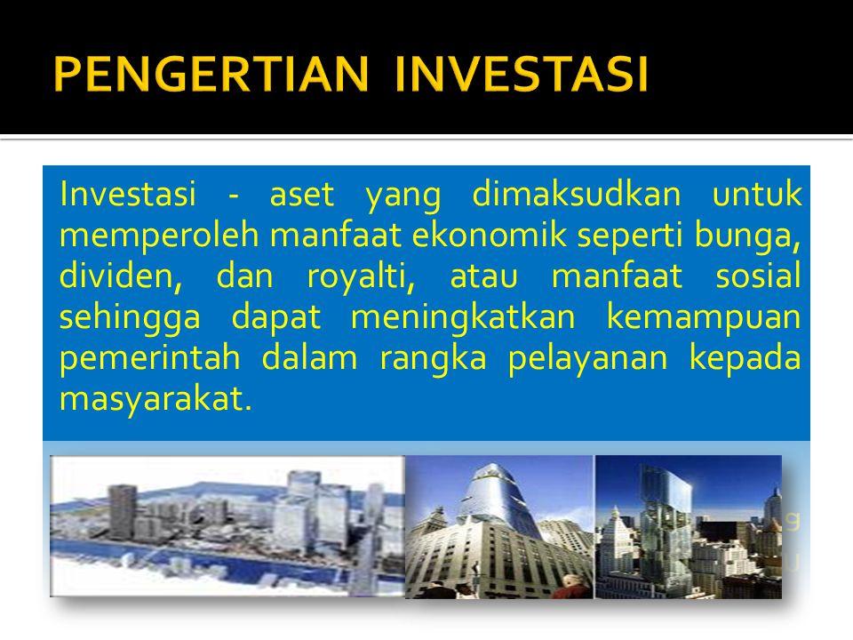  Investasi non permanen misalnya:  pembelian obligasi jangka panjang dan investasi yang dimaksudkan tidak untuk dimiliki berkelanjutan dinilai sebesar nilai perolehanya.
