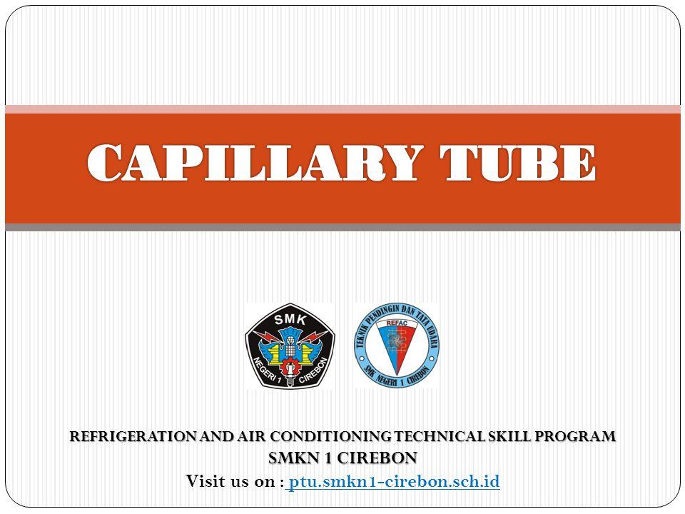 Gambar Pipa Kapiler Capillary tube Strainer Capillary tube