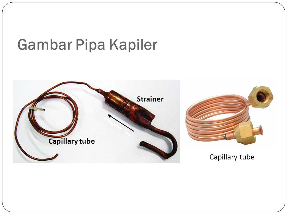  Nama lain dari pipa kapiler adalah Impedance tube, restrictor tube, atau Choke Tube.