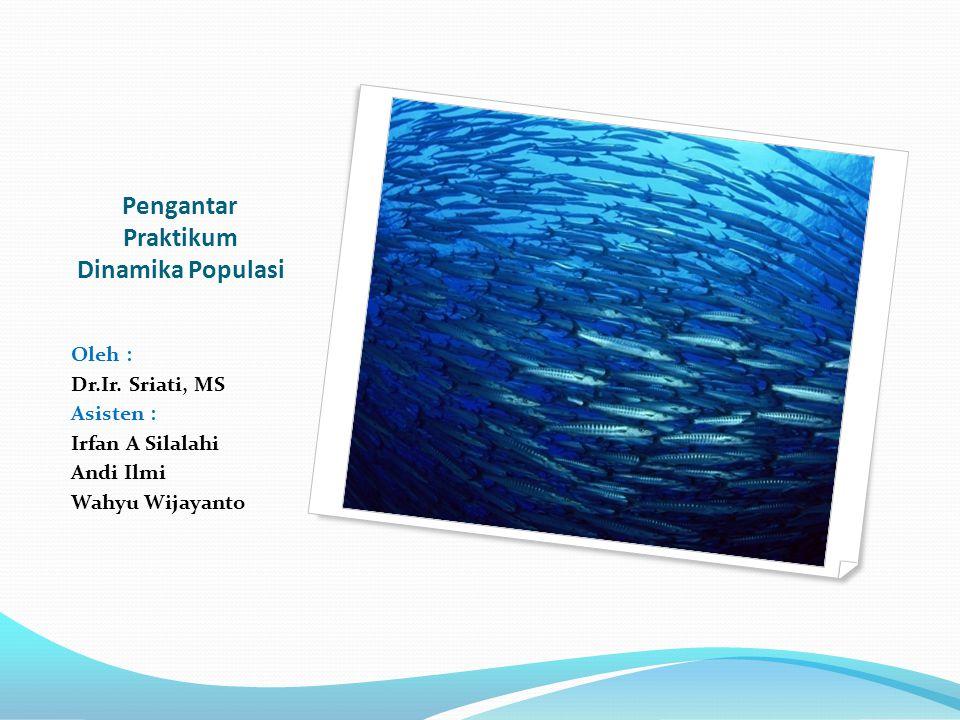 Pengantar Praktikum Dinamika Populasi Oleh : Dr.Ir. Sriati, MS Asisten : Irfan A Silalahi Andi Ilmi Wahyu Wijayanto