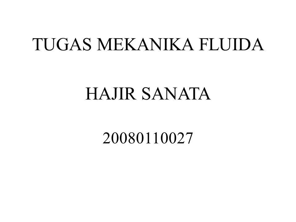 HAJIR SANATA 20080110027 TUGAS MEKANIKA FLUIDA