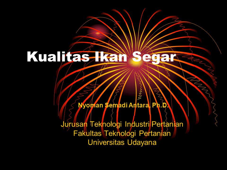 Kualitas Ikan Segar Jurusan Teknologi Industri Pertanian Fakultas Teknologi Pertanian Universitas Udayana Nyoman Semadi Antara, Ph.D.