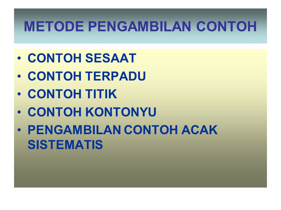 PENILAIAN KEADAAN BADAN AIR KONSENTRASI mg/L, mmol/L, atau g/m3 BEBAN PENCEMARAN BP = Q X C kg/detik, mol/jam, ton/jam