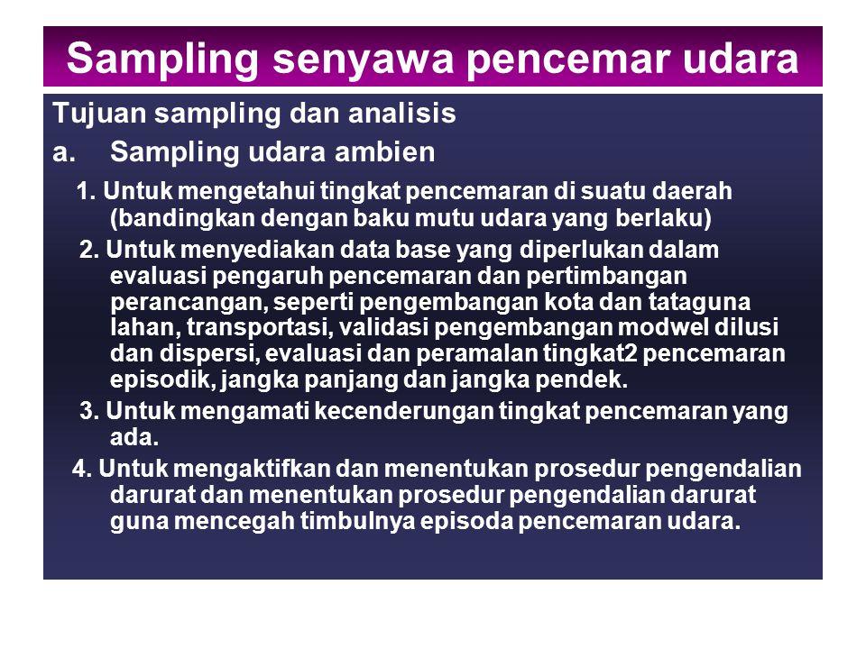 Sampling udara ambien dilakukan dengan beberapa cara 1.