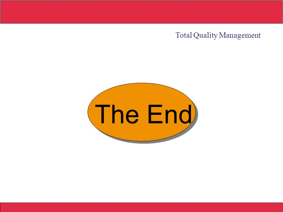 2008 Yudhi herliansyah The End Total Quality Management