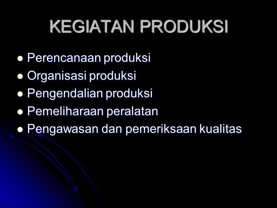 JENIS PENGENDALIAN PRODUKSI ORDER CONTROL ORDER CONTROL FLOW CONTROL FLOW CONTROL