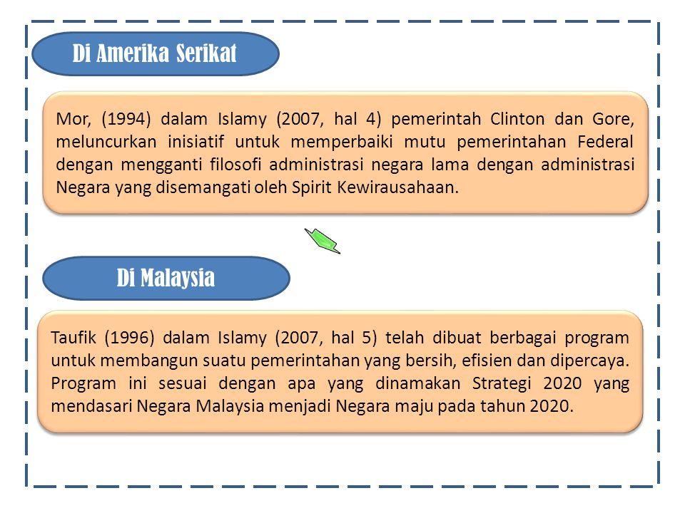 Haat (1996) dalam Islamy (2007, hal 5) telah dikenal suatu kampanye komprehensif yang disebut pelayanan publik di abad 21.
