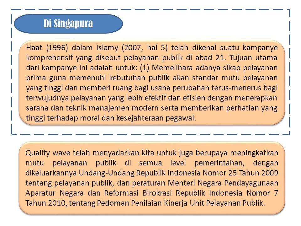 Problem Penyelenggaraan Pelayanan Publik di Indonesia B B Penyelenggaraan Pelayanan publik merupakan salah satu fungsi penting pemerintah.