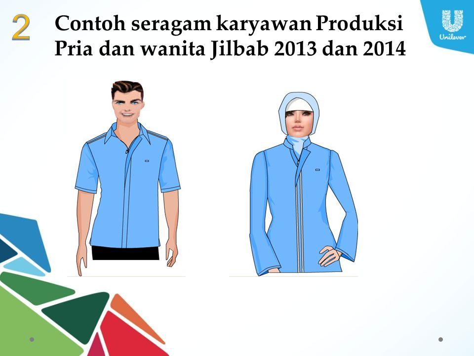 Contoh seragam karyawan Produksi Pria dan wanita Jilbab 2013 dan 2014
