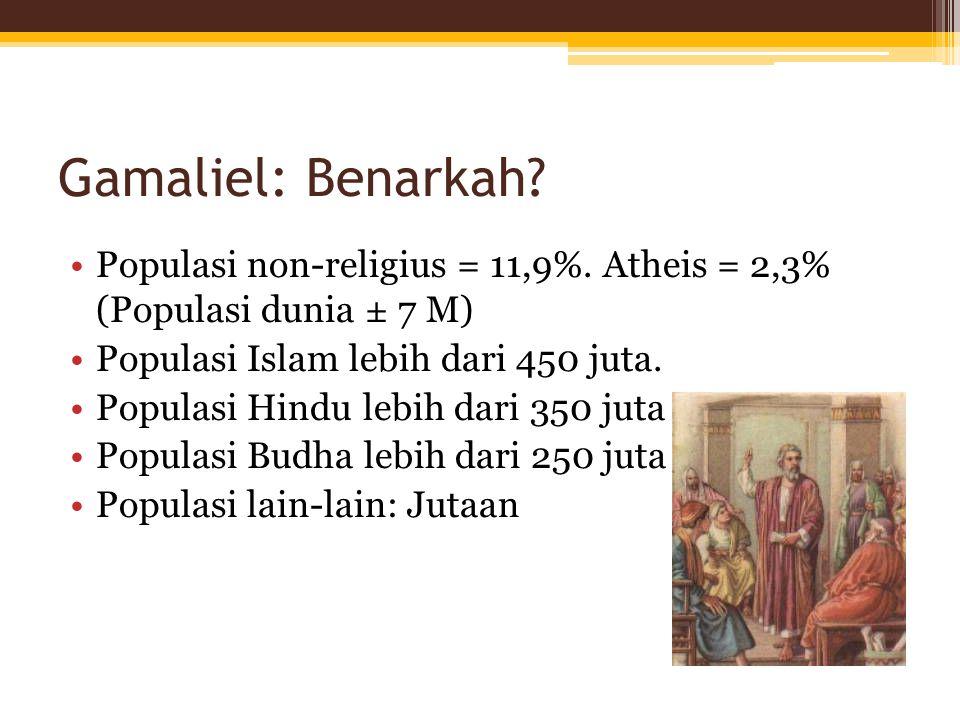 Gamaliel: Benarkah. Populasi non-religius = 11,9%.
