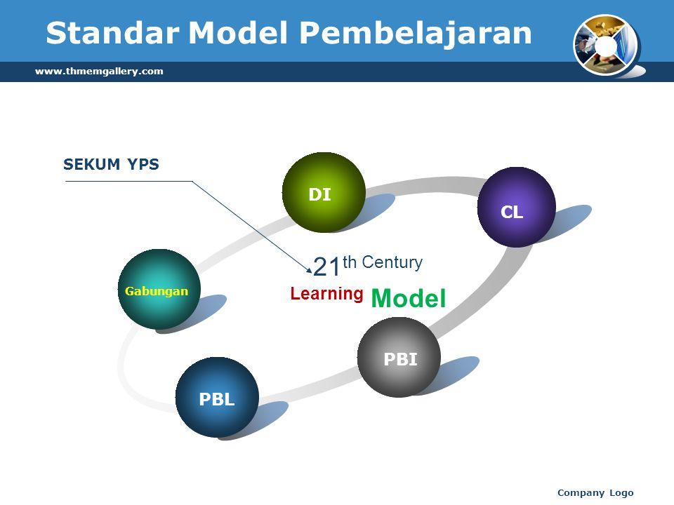 www.thmemgallery.com Company Logo Standar Model Pembelajaran Gabungan DI CL PBI PBL 21 th Century Learning Model SEKUM YPS