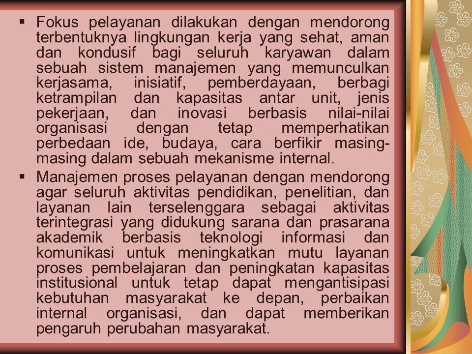 A. Latar Belakang Masalah  Perguruan Tinggi AUB Surakarta sebagai penyedia jasa di bidang Pendidikan Tinggi saat ini harus lebih memperhatikan pola p