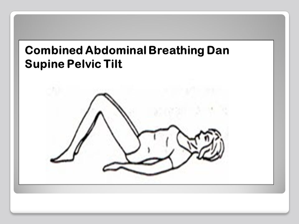 Combined Abdominal Breathing Dan Supine Pelvic Tilt