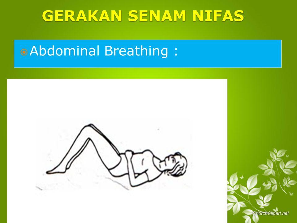 GERAKAN SENAM NIFAS  Abdominal Breathing :