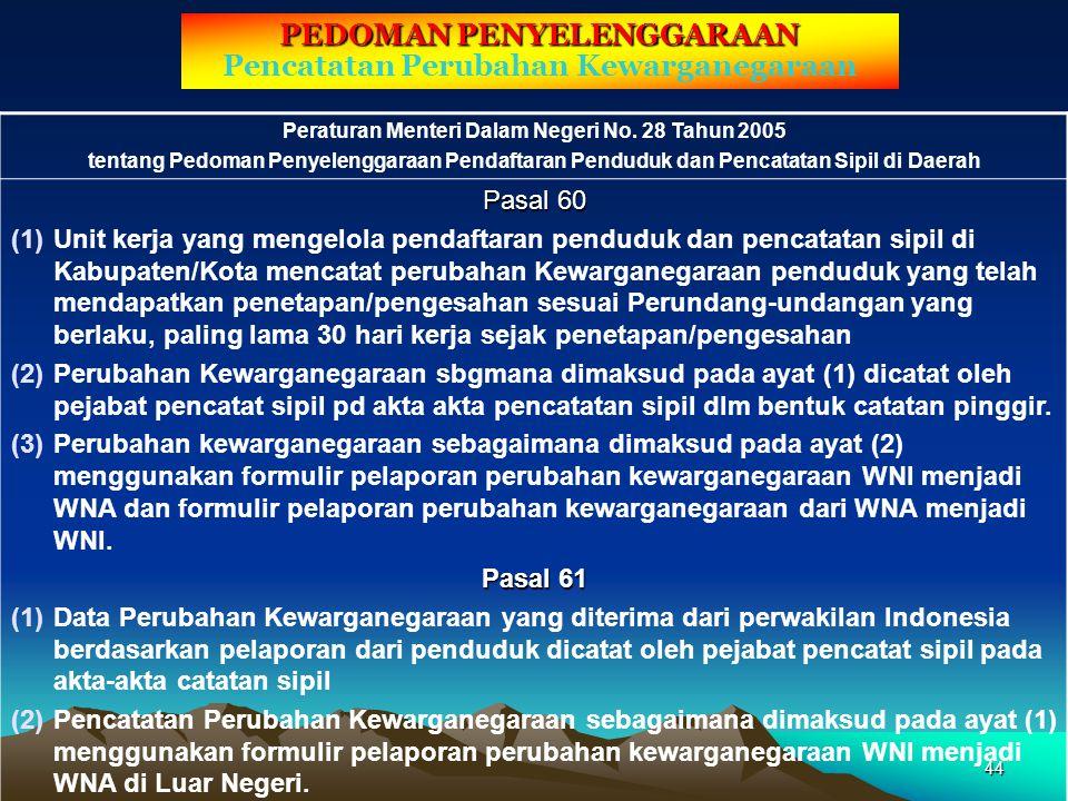 3. Jenis Formulir dan Blanko Pembatalan Akta 1.Formulir pelaporan pembatalan akta 2.Blanko register akta Capil untuk dibubuhi catatan pinggir