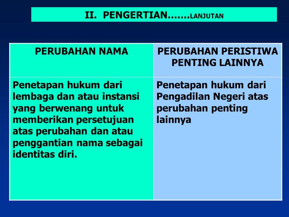 KELAHIRANPENGANGKATAN ANAK Didasarkan pada Surat Kelahiran dari Rumah Sakit/RS bersalin/puskesmas/poliklinik desa/ dokter prakter swasta/bidan praktek swasta atau dari pilot/nakkoda pesawat/kapal laut Didasarkan pada penetapan pengadilan PENGAKUAN ANAKPENGESAHAN ANAK Didasarkan pada surat pernyataan pengakuan dari laki-laki (ayah) dengan persetujuan ibu Diikuti dengan pengesahan perkawinan IV.