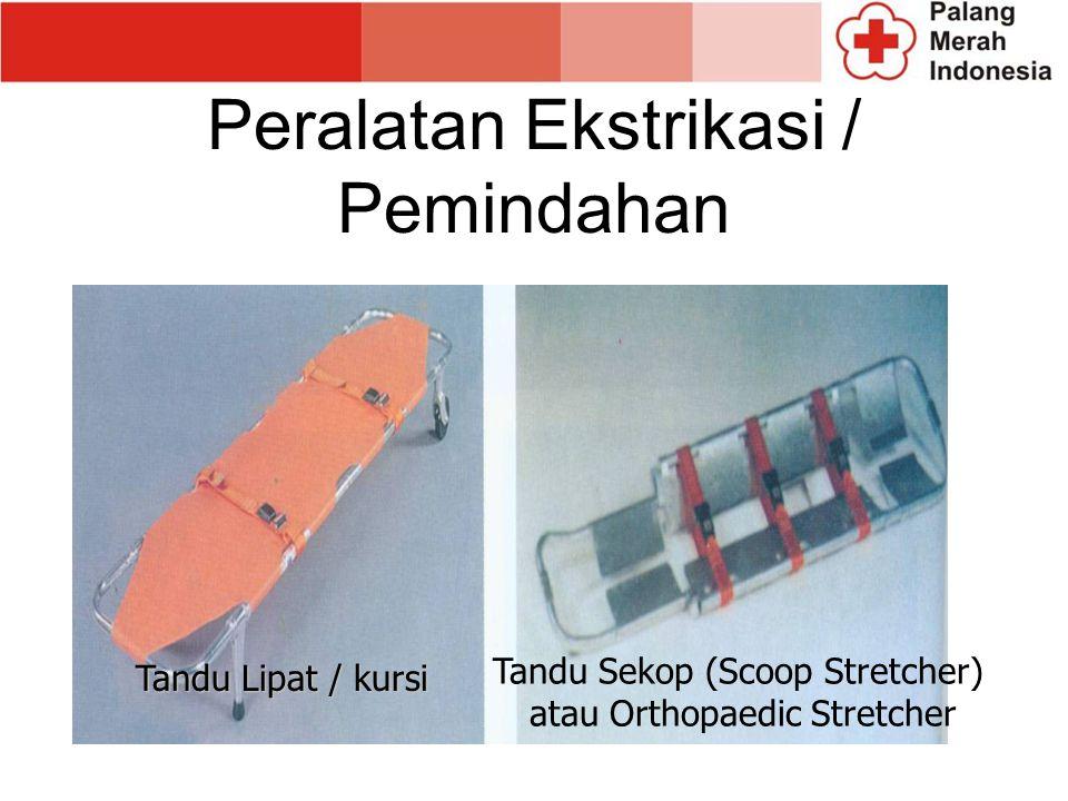 Peralatan Ekstrikasi / Pemindahan Tandu Lipat / kursi Tandu Sekop (Scoop Stretcher) atau Orthopaedic Stretcher