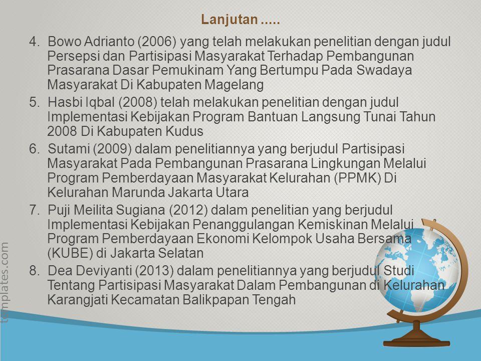 © free-ppt- templates.com Tinjauan Pustaka & Landasan Teori Tinjauan Pustaka merupakan hasil penelitian terdahulu yang dapat digunakan sebagai acuan d