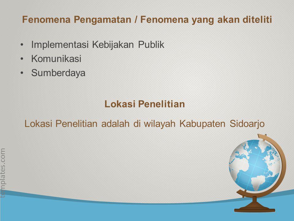© free-ppt- templates.com Fokus Penelitian Fokus penelitian ini adalah Pembangunan Desa di Kabupaten Sidoarjo