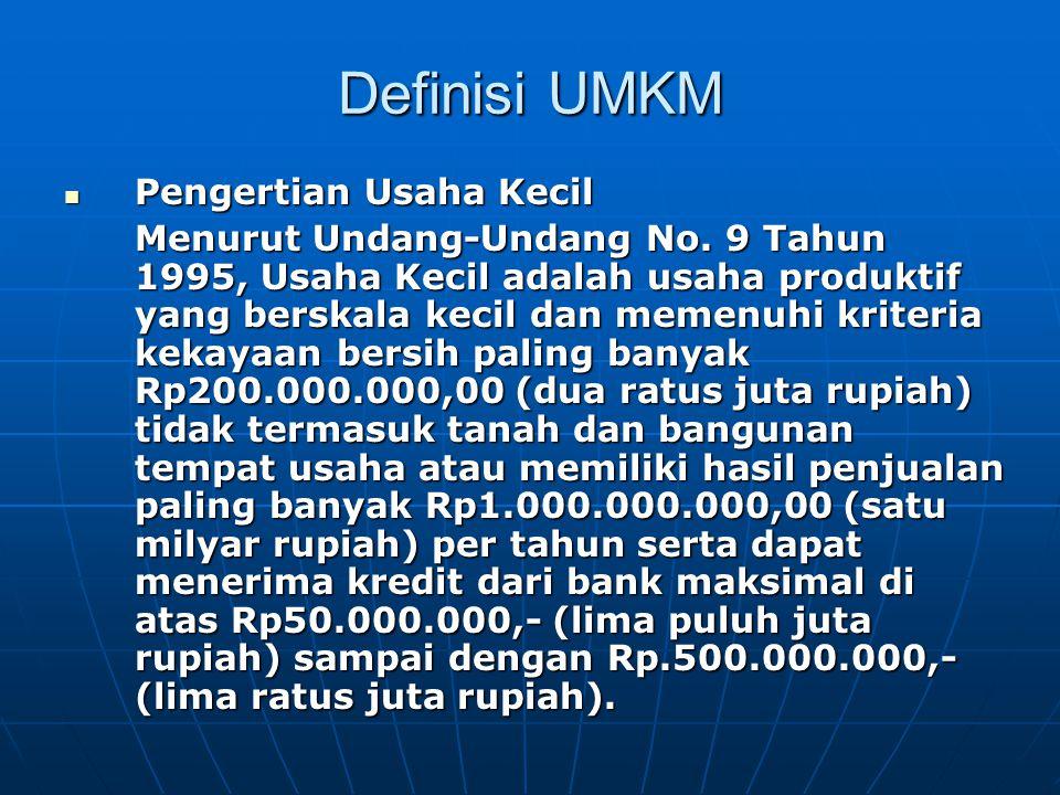 Keuntungan bank sebagai kreditur bagi UMK  Dari sisi risiko kemacetan pinjaman, meminjamkan kredit kepada pelaku UMK tingkat kemacetannya relatif kecil.