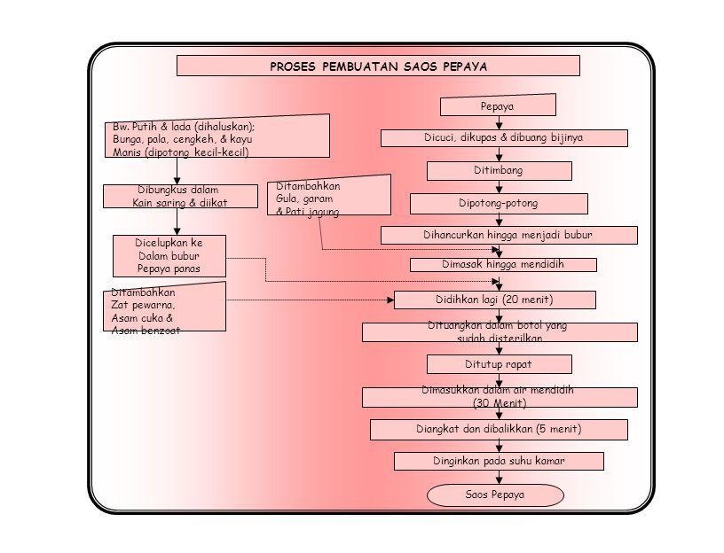 Disadap diambil getahnya Digiling Buah berumur 2,5 – 3 bulan PAPAIN PROSES PEMBUATAN PAPAIN Na metabisulfit Dikeringkan pada suhu 40 – 50 o C selama 6 jam Pengemasan