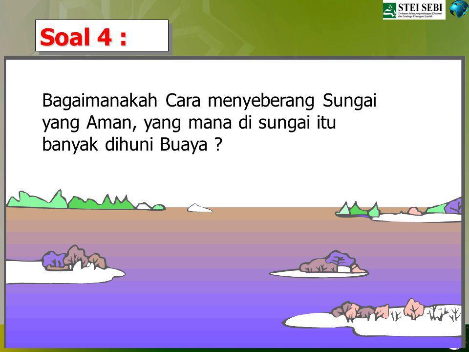 TRAINING ORGANISASI, BSI 28 DESEMBER 2008, VILLA CIBODAS Jawaban yg benarr: Si gajah Karena dia masih di dalam kulkas.