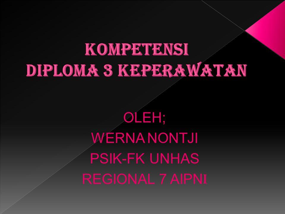 OLEH; WERNA NONTJI PSIK-FK UNHAS REGIONAL 7 AIPN I