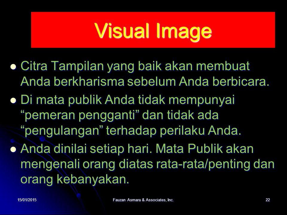 Visual Image Citra Tampilan yang baik akan membuat Anda berkharisma sebelum Anda berbicara. Citra Tampilan yang baik akan membuat Anda berkharisma seb